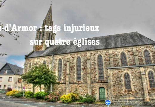 Côtes-d'Armor : tags injurieux sur quatre églises