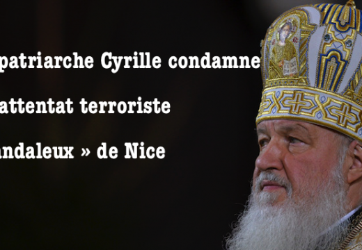 Nice : le patriarche de Moscou invite à une réflexion religieuse