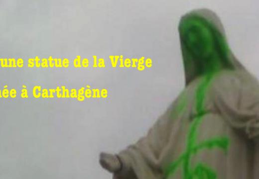 Chili : une statue de la Vierge profanée à Carthagène