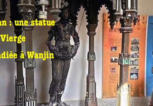 Taïwan : une statue de la Vierge incendiée à Wanjin