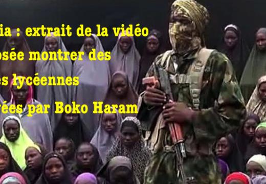 Nigéria : extrait de la vidéo sur les jeunes lycéennes enlevées