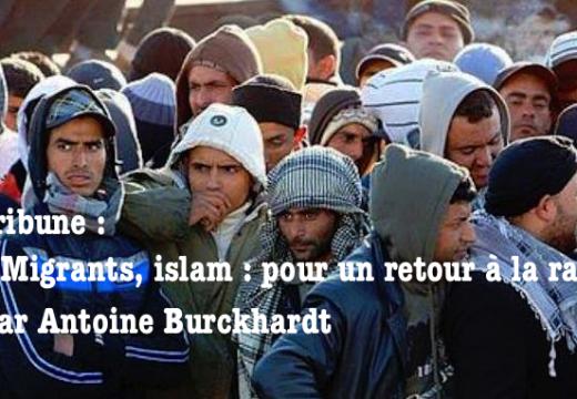 Tribune : « Migrants, islam : pour un retour à la raison », par Antoine Burckhardt