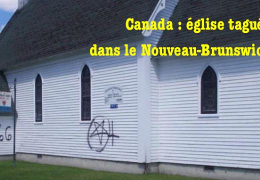 Canada : église anglicane taguée dans le Nouveau-Brunswick