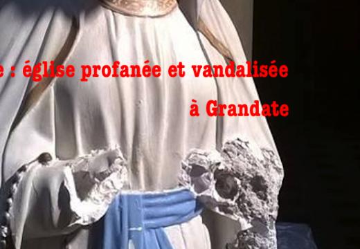Italie : église profanée et vandalisée à Grandate