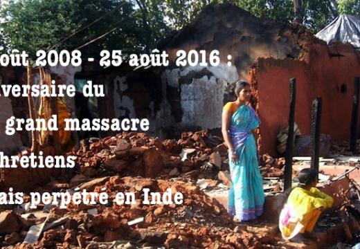 Inde : 8ème anniversaire du plus grave pogrome contre les chrétiens