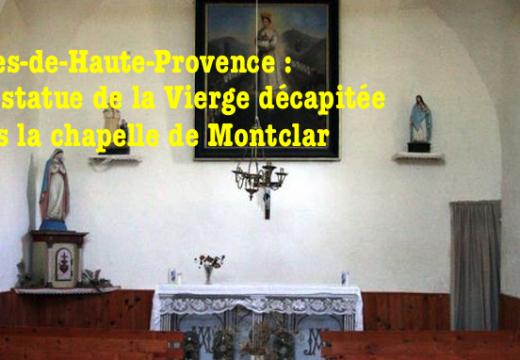 Alpes-de-Haute-Provence : une statue de la Vierge décapitée à Montclar