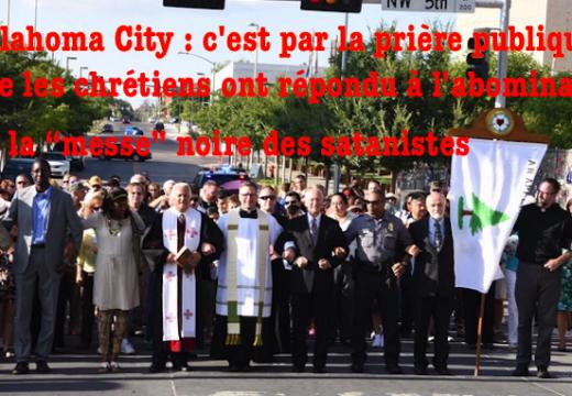 """""""Messe"""" noire d'Oklahoma City : les chrétiens répondent par la prière"""