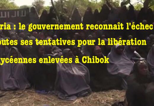 Libération des lycéennes de Chibok : le gouvernement nigérian reconnaît son échec