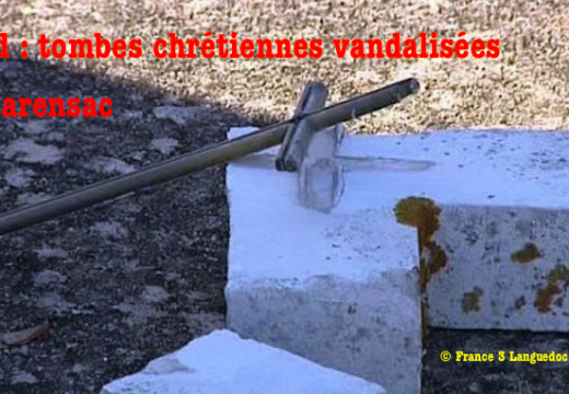 Gard : tombes vandalisées dans le cimetière de Clarensac