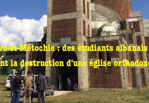Kosovo-et-Métochie : des étudiants exigent la destruction d'une église à Pristina