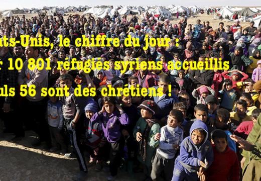 États-Unis : les chrétiens ne représentent que 0,5 % des réfugiés syriens admis