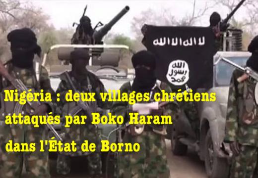 Nigéria : deux morts dans l'attaque de villages chrétiens par Boko Haram