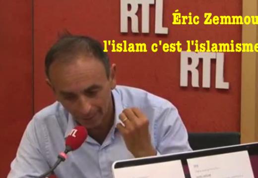 Islam = islamisme : entretien d'intérêt avec Éric Zemmour sur RTL