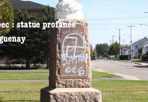 Québec : une statue du Sacré-Cœur profanée à Saguenay