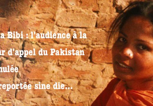 Asia Bibi : l'audience à la Cour d'appel annulée !
