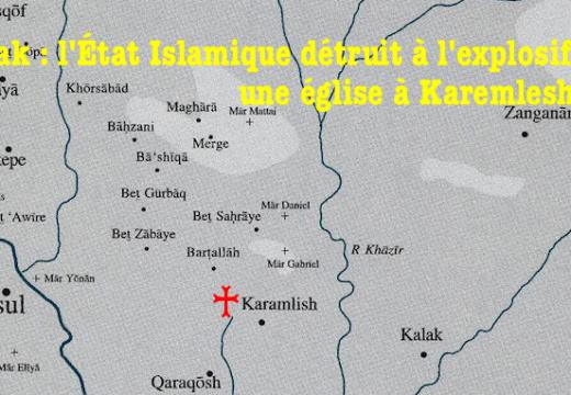 Irak : l'État Islamique détruit une église à Karemlesh