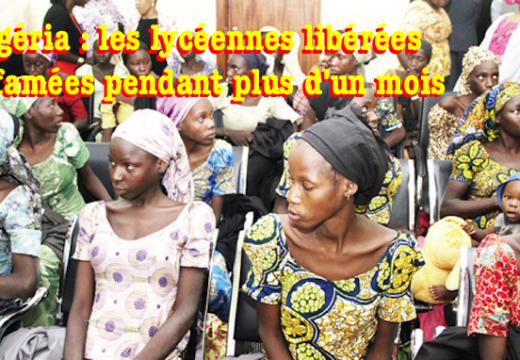 Lycéennes nigérianes libérées : affamées pendant plus d'un mois