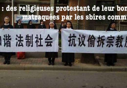 Chine : des religieuses battues pour avoir défendu leurs droits