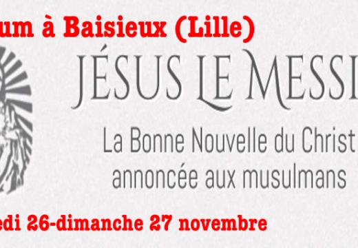 """Baisieux (Lille) : Forum """"Jésus le Messie"""""""