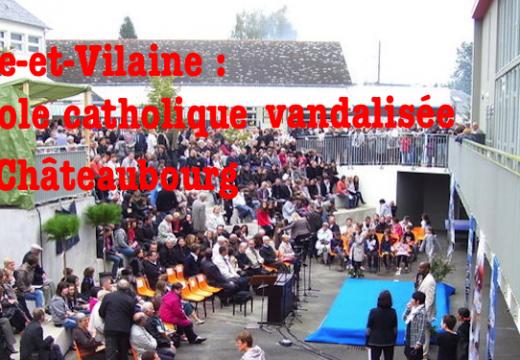 Ille-et-Vilaine : école catholique vandalisée à Châteaubourg