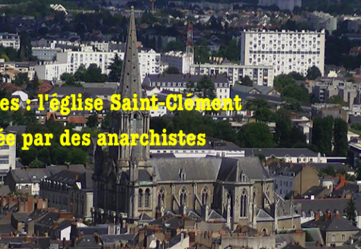 Nantes : église taguée par des anarchistes