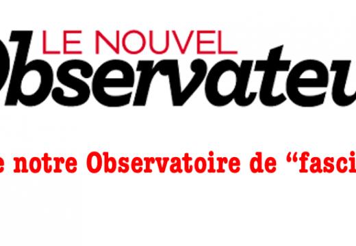 Le Nouvel Observateur classe notre Observatoire dans la « fachosphère »