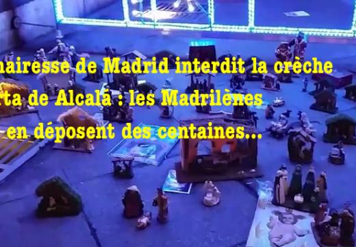 Madrid : la mairesse interdit la crèche à la Puerta de Alcalá