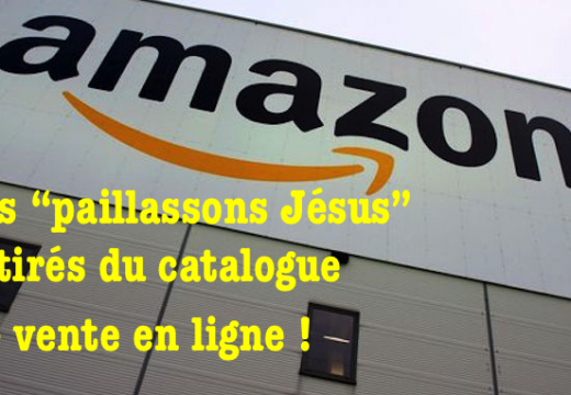 "Amazon a retiré les ""paillassons Jésus"" de son catalogue de vente en ligne"