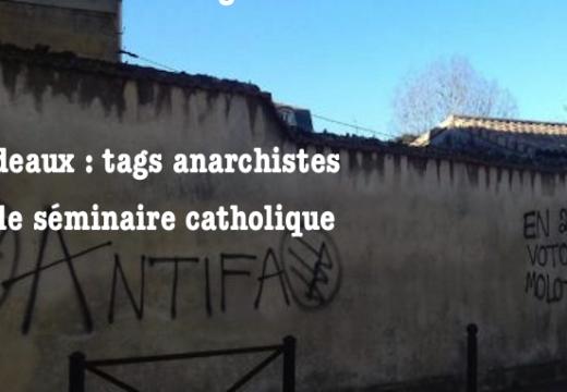 Bordeaux : le séminaire catholique tagué