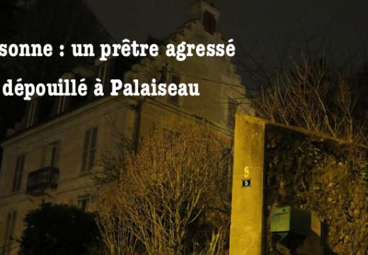 Essonne : un prêtre attaqué et dépouillé à Palaiseau