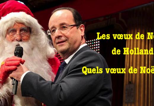 Vœux de Noël de Hollande : chic, on n'a pas besoin de lui dire merci…
