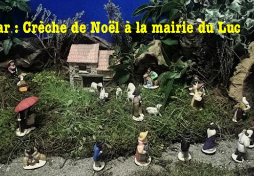 Var : Crèche de Noël à la mairie du Luc