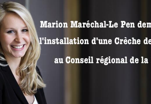 PACA : Marion Maréchal-Le Pen demande qu'une crèche soit installée au Conseil Régional