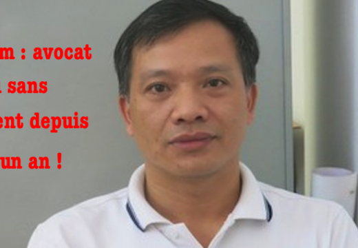 Vietnam : avocat chrétien détenu sans procès de puis plus d'un an !