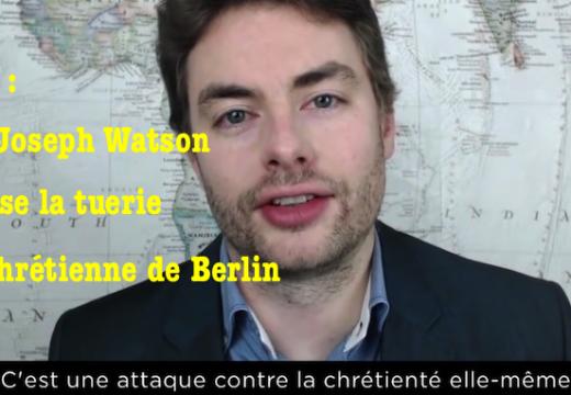 Vidéo : la nature antichrétienne de l'attentat de Berlin