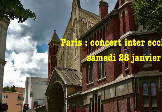 Paris : concert inter ecclésial organisé par EEChO