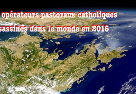 2016 : 28 opérateurs pastoraux catholiques assassinés dans le monde