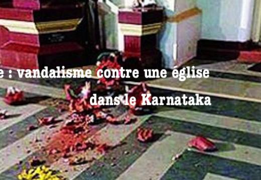 Inde : église vandalisée dans le Karnataka