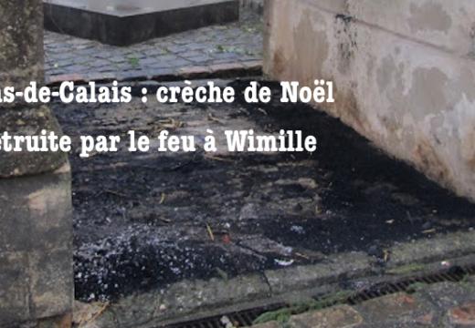 Pas-de-Calais : crèche de Noël détruite par le feu à Wimille