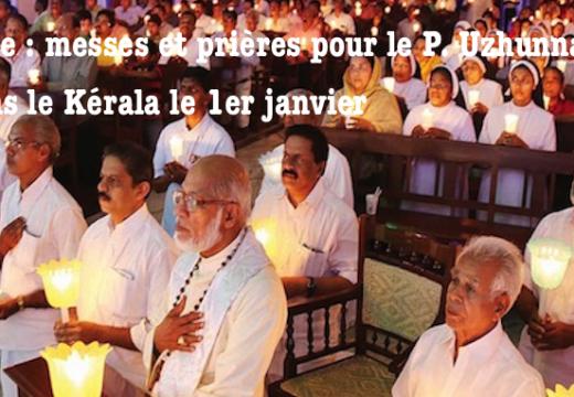 Inde : messes et prières pour le Père Uzhunnalil dans l'État du Kérala