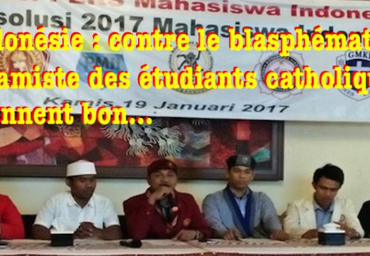 Indonésie : le blasphémateur islamiste antichrétien a des soucis…