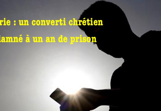 Algérie : un converti chrétien condamné à un an de prison