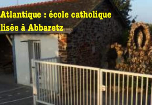 Loire-Atlantique : école catholique vandalisée à Abbaretz