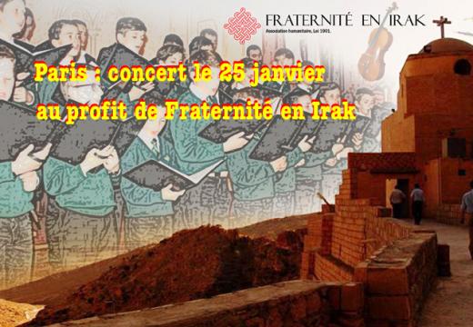 Paris : concert au profit de Fraternité en Irak