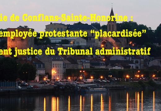 """Conflans-Sainte-Honorine : le tribunal donne raison à une protestante """"placardisée"""""""