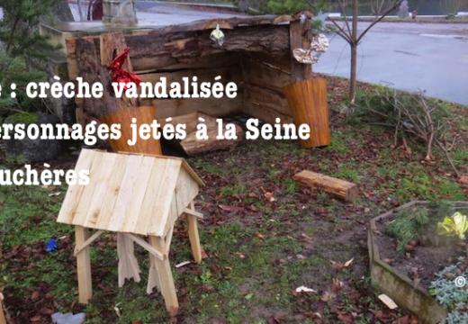 Aube : crèche de Noël vandalisée et jetée à la Seine à Fouchères
