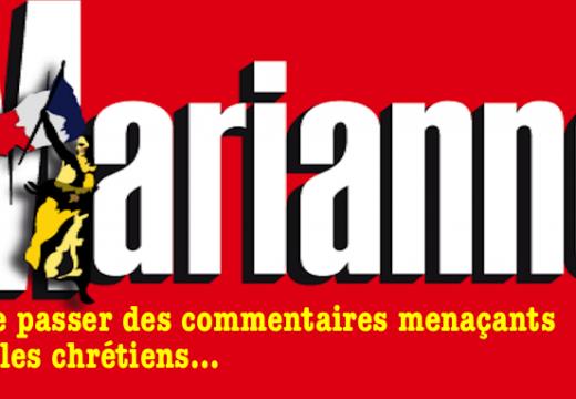 """""""Marianne"""" : laisse passer des commentaires menaçants pour les chrétiens"""