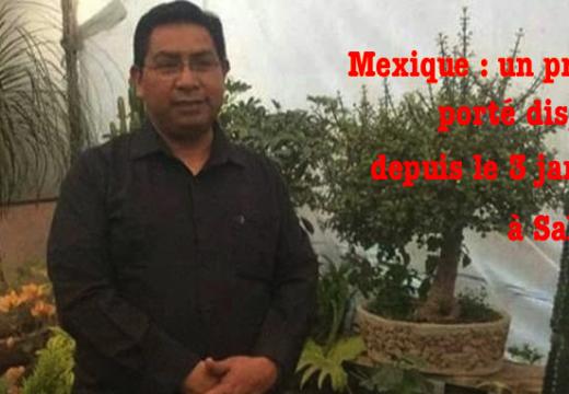 Mexique : aucune nouvelle sur un prêtre disparu le 3 janvier