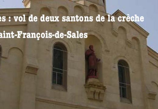 Nîmes : santons volés dans la crèche de l'église Saint-François-de-Sales
