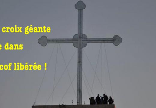 Irak : croix géante érigée au-dessus de Telescof libérée